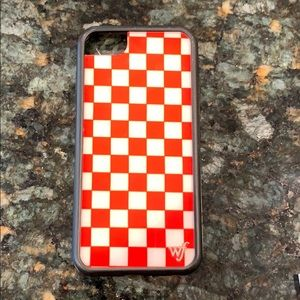 Wildflower Red Checkered iPhone 7 Case